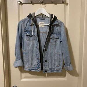 Abercrombie and Fitch denim jacket with hood